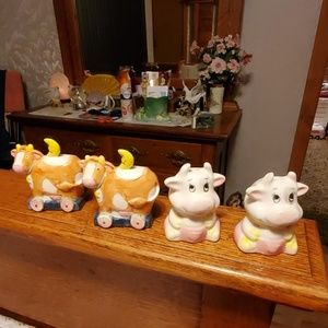 2 Sets of Cow Salt & Pepper  Shakers